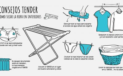 ¿Cómo secar la ropa en interiores?